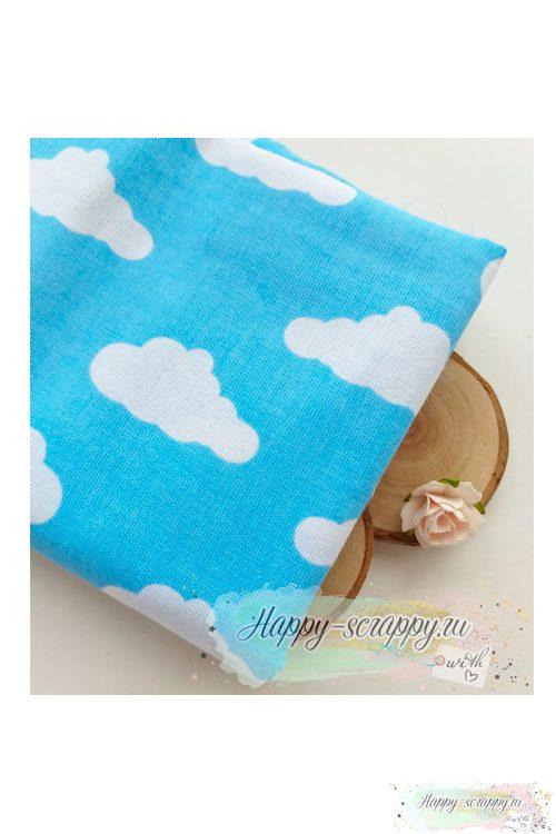 Ткань Облака на голубом