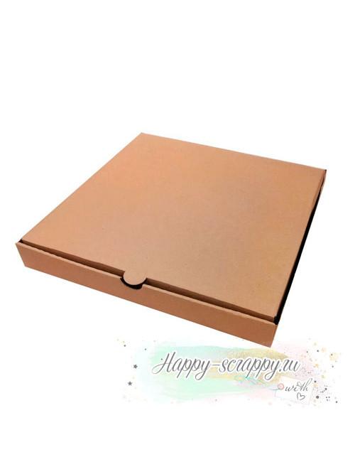 Коробка квадратная (25х25х4 см)