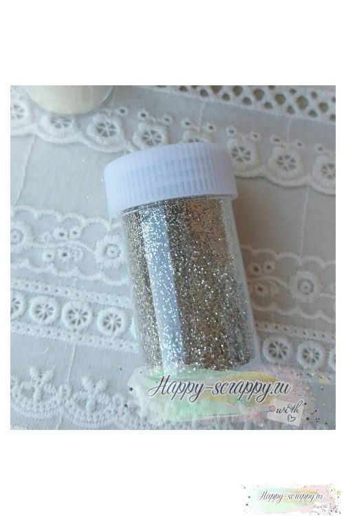 Глиттер 30 гр - серебро
