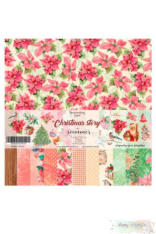 Набор бумаги для скрапбукинга — Christmas story