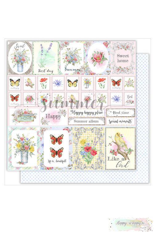 Бумага для скрапбукинга The magic of nature — Summer card