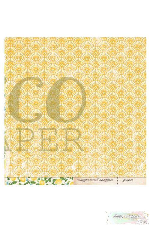 Бумага для скрапбукинга Завтрак на веранде — Лимонный пирог