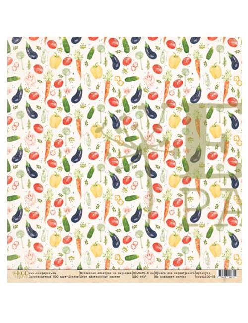 Бумага для скрапбукинга Завтрак на веранде — Витаминный салат