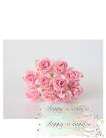Кудрявые розы 2 см — св. розовые (5 шт)