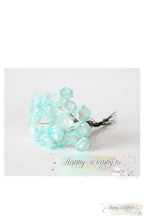 Лютики св.голубой — белый (5 шт)