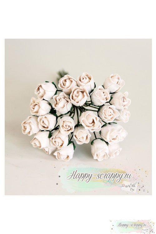 Бутоны роз средние полураскрытые - белые (5 шт)Бутоны роз средние полураскрытые - белые (5 шт)