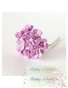 Цветы вишни средние светло — сиреневые (5 шт)