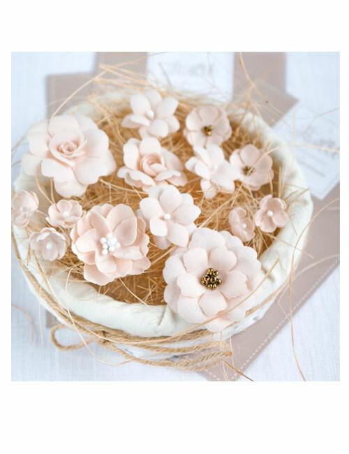 Набор цветов Pastel flowers — Бежевый № 2