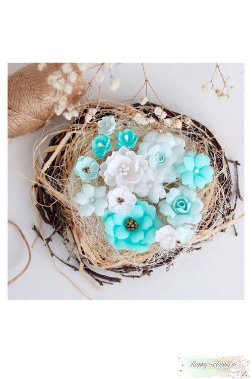 Набор цветов Pastel flowers — Мятный № 2