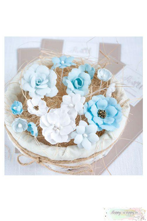 Набор цветов Pastel flowers — Голубой № 2