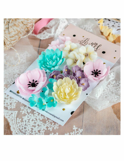 Набор цветов Pastel flowers — Микс № 1
