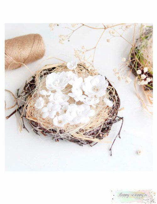 Набор цветов Pastel flowers — Белый № 2