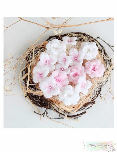 Набор цветов Pastel flowers — Розовый № 3