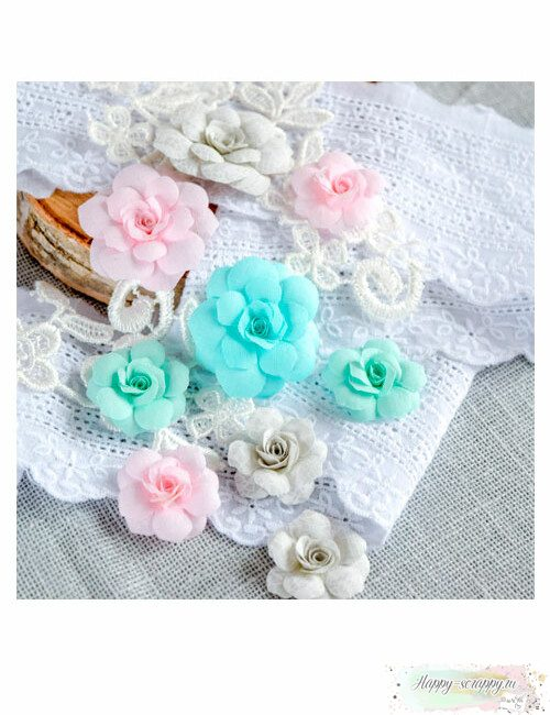 Набор цветов Pastel flowers — Розово-мятный № 1