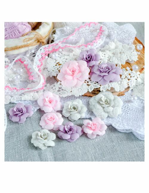 Набор цветов Pastel flowers — Розово-серый № 1