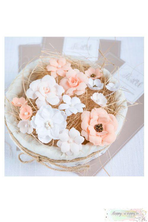 Набор цветов Pastel flowers — Персиковый № 2