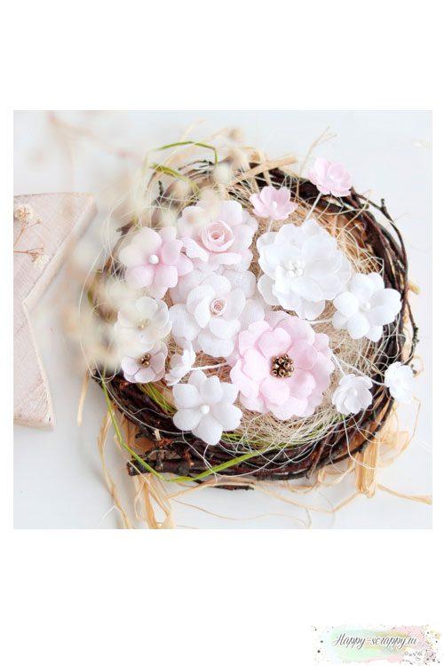 Набор цветов Pastel flowers — Розовый № 2