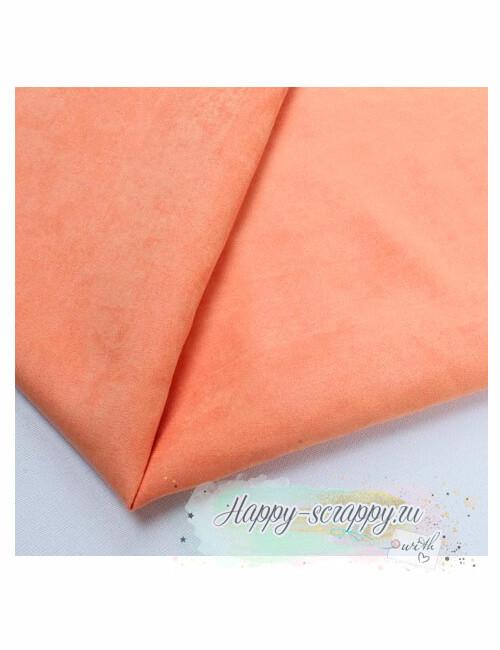 Ткань замша - светло-оранжевый