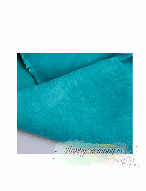 Ткань под замшу - бирюзово-зеленый