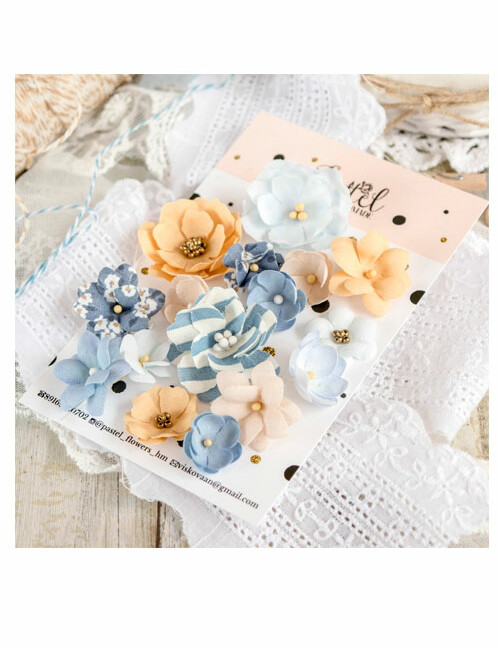 Набор цветов Pastel flowers — Микс № 2