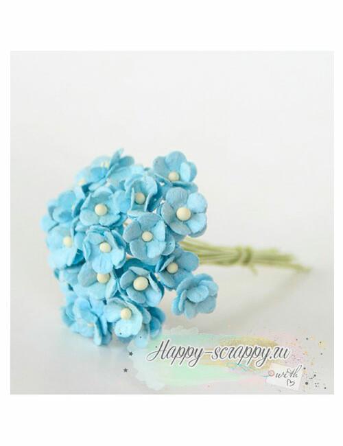 Цветы мини-вишни голубые (10 шт)