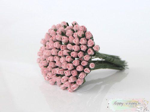 Микро бутоны роз - розовоперсиковые (10 шт)