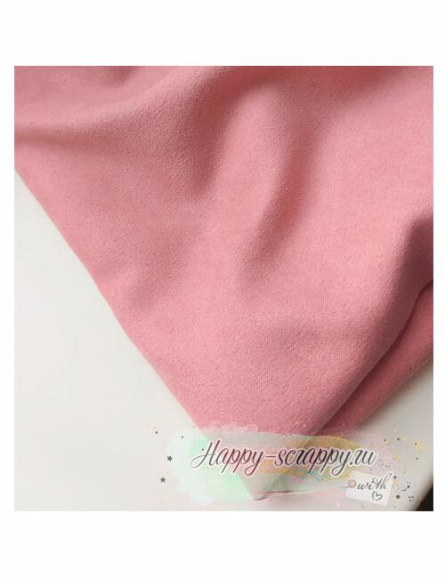 Ткань замша - пудровый розовый