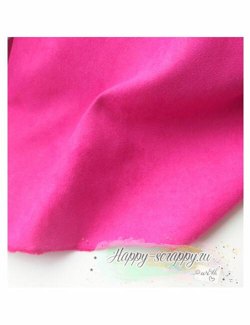 Ткань замша - малиновая