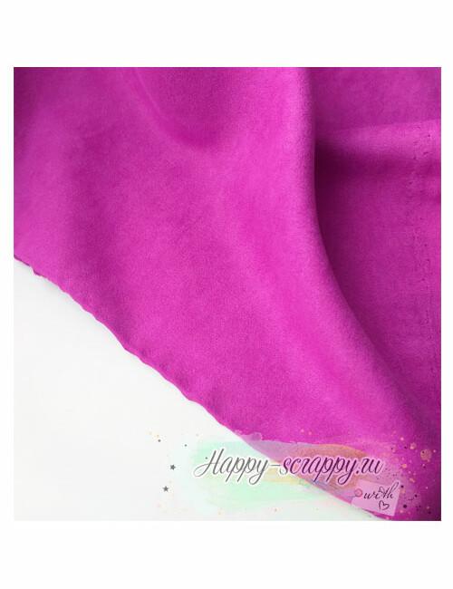 Ткань замша - фиолетовая
