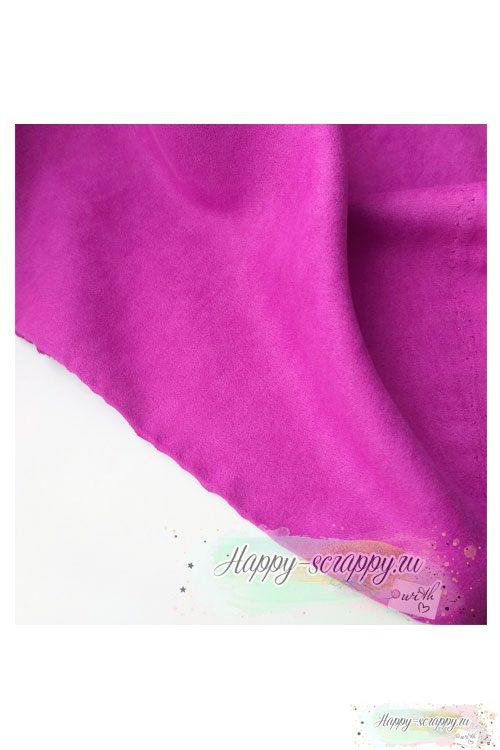Ткань замша односторонняя - фиолетовая