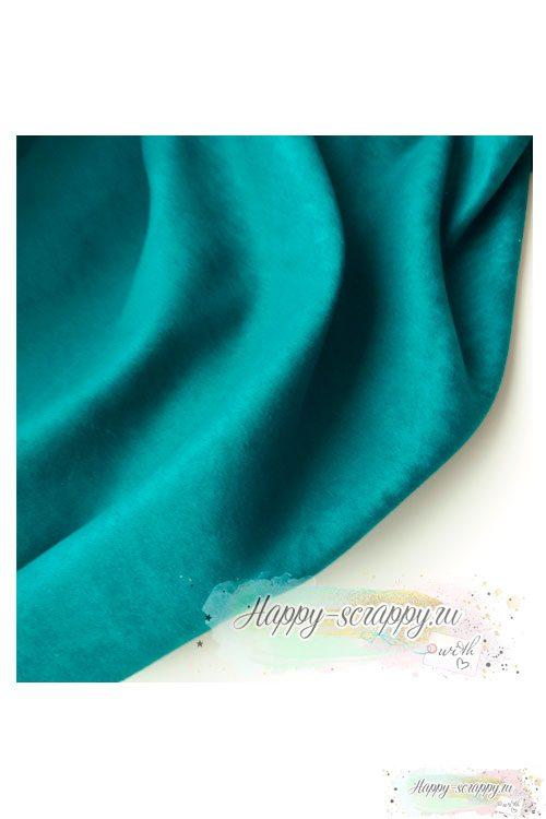 Ткань замша - темно-зеленая