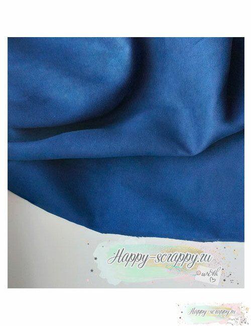 Ткань замша - темно-синяя