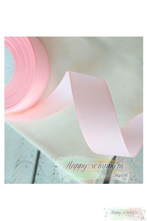 Лента репсовая - розово-персиковая (теплый оттенок) (1 м)
