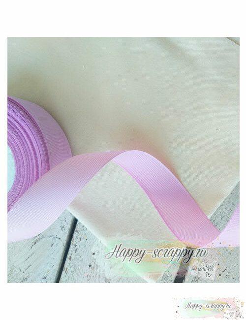 Лента репсовая - светло-фиолетовая (1 м)