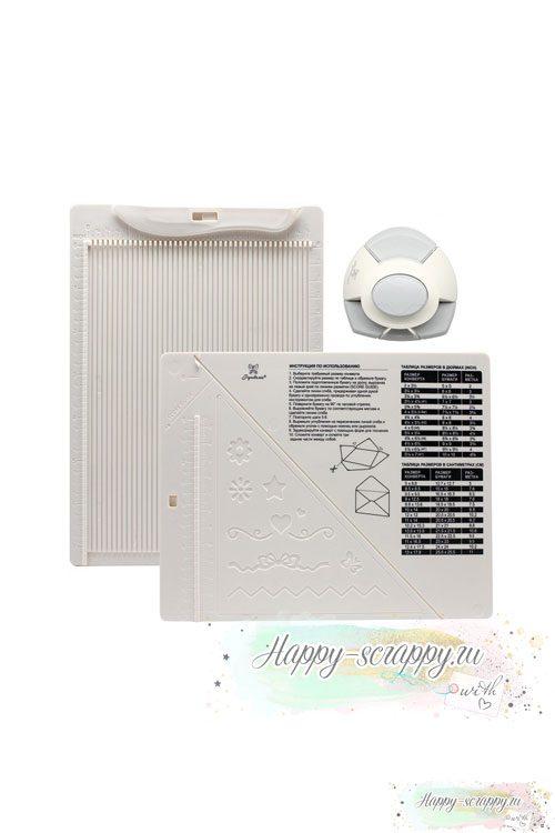 Доска для создания конвертов и открыток в комплекте с дыроколом Рукоделие (21,5х16,2)