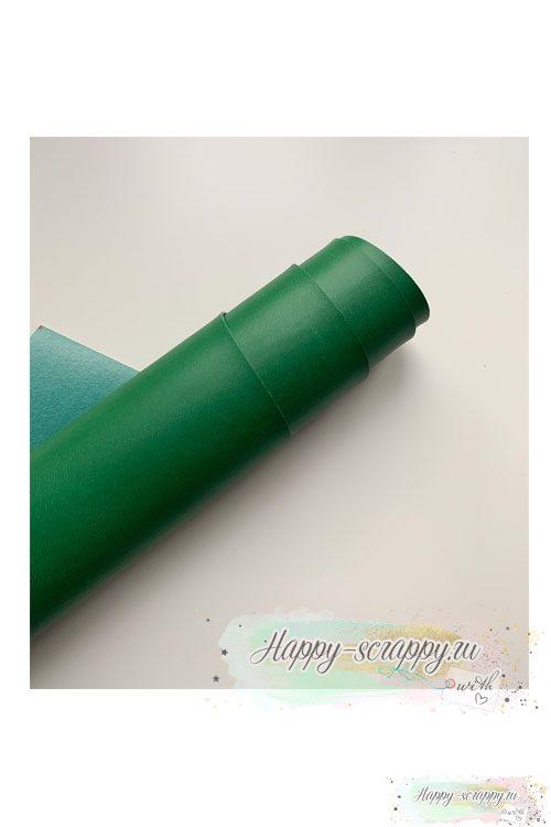 Переплетный кожзам - ярко-зеленый матовый