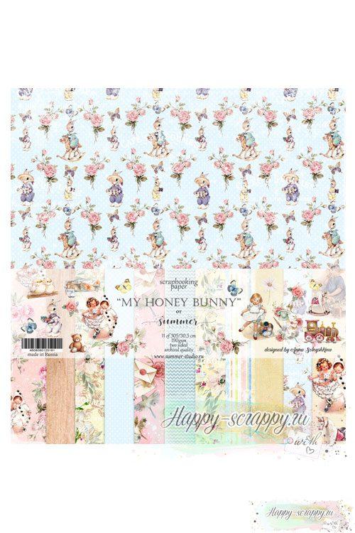Набор двусторонней бумаги для скрапбукинга — My honey bunny