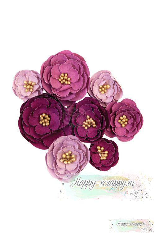 Набор тканевых цветов PLUM AFTRN-DARCELLE - Plum Afternoon