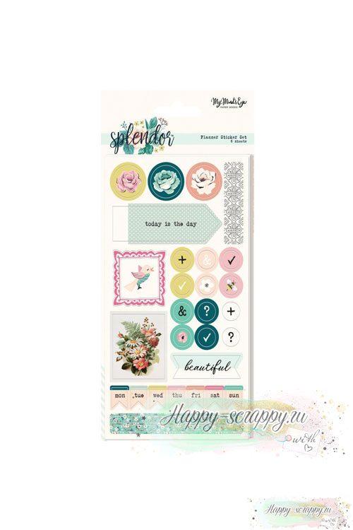 Наклейки для ежедневника splendos planer sticker set