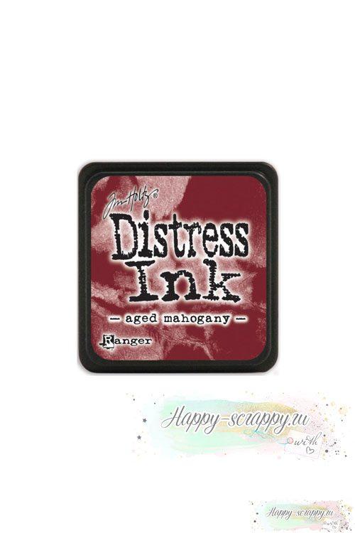 Чернильная мини-подушечка Distress Ink - Aged mahogany