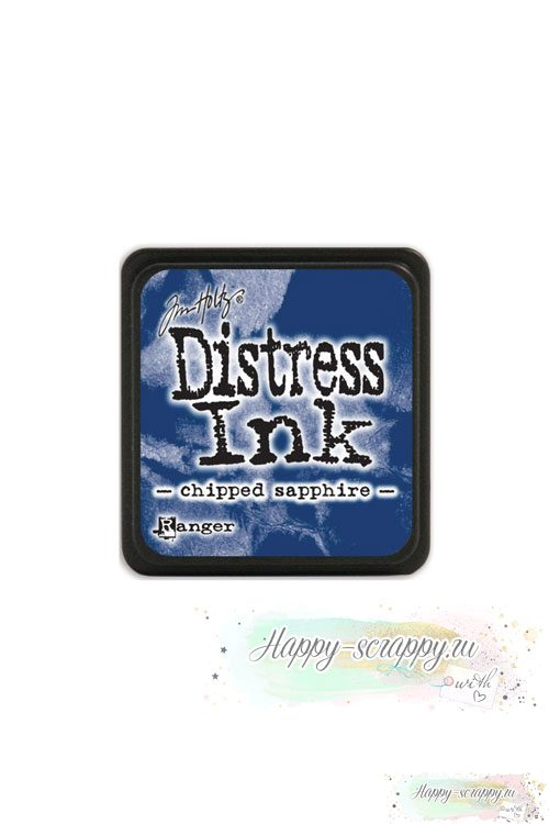 Чернильная мини-подушечка Distress Ink - Chipped sapphire