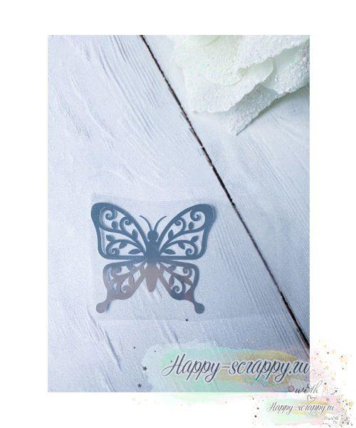 термотрансфер бабочка-с-завитками