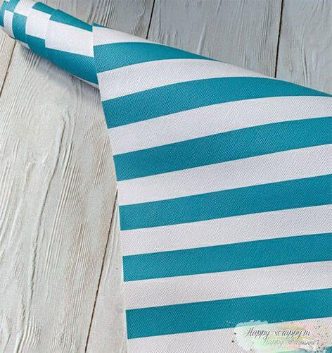 Кожзам-бело-голубые-полосы