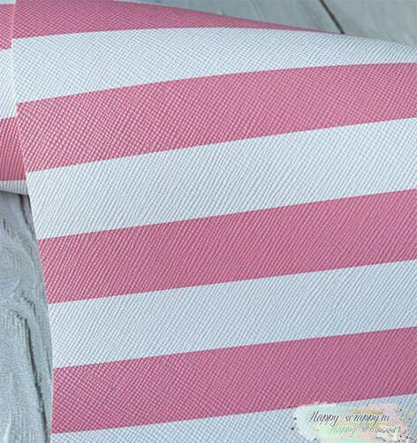 Кожзам-бело-розовый
