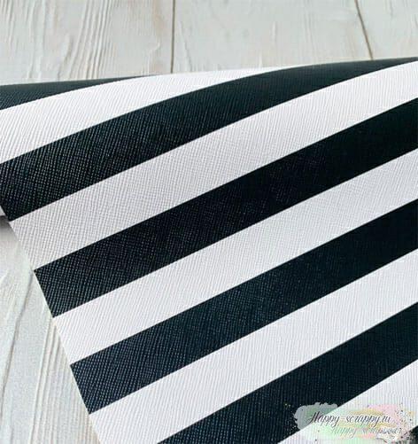 Кожзам-черно-белые-полосы