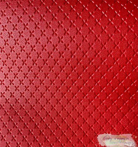 кожзам-красный-крестик
