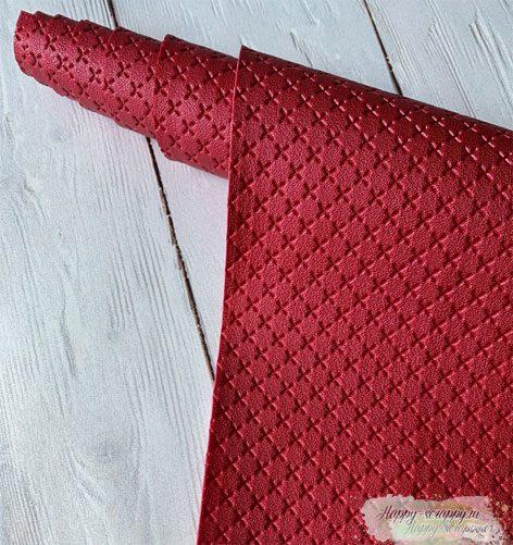 кожзам-крестик-рубиновый