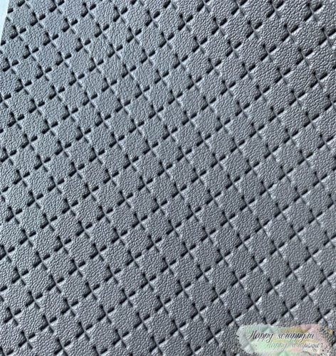 кожзам-крестик-серый