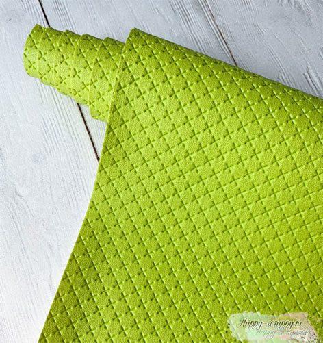 кожзам-крестик-зеленый