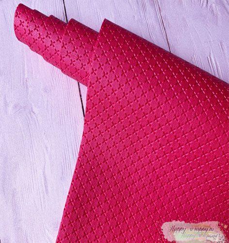 крестик-розово-красный